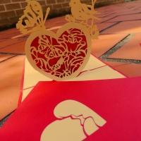Heart - Handmade 3d Pop Up Greeting Card
