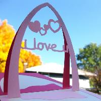 I Love You - Handmade 3d Pop Up Greeting Card