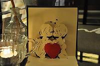 Kiss 1 - Handmade 3d Pop Up Greeting Card
