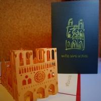 Notre dam de Paris - Handmade 3D greeting card
