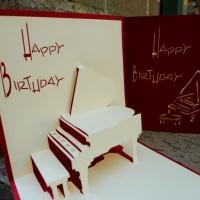 Piano - Handmade 3D pop up card