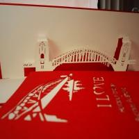Sydney Harbour - Handmade 3D pop up greeting card
