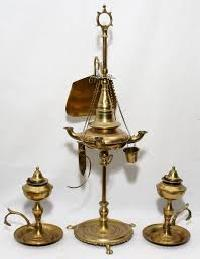 Antique Brass Oil Lamps