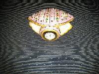 Marble Shell Clock