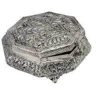 oxidized silver jewellery box