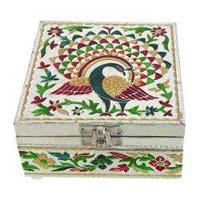Wooden Meenakari Bangle Box