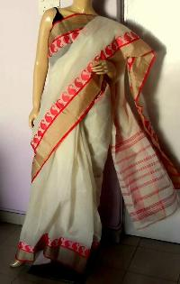 cotton muga border sarees