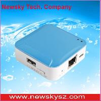 Portable 150 Mbps Wireless Mini 3g Router With Tf Card Slot , Fashionable Shape With Stable Quality