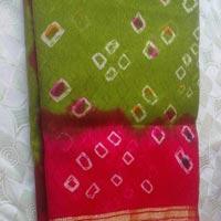 Bandhani Cotton Satin Dress Material