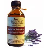 Aurva Lavender Rosewood Calming Body, Hand, Foot Massage Oil