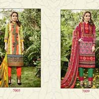 Gul Safina-designer Cambric Printed With Heavy Embroidery..
