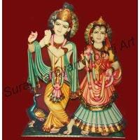 Colorful Radha Krishna Statues