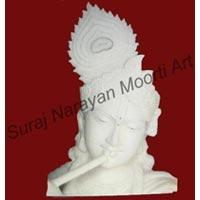 Krishna Face Marble Statues