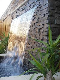 water cascade wall fountain