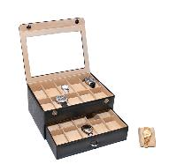 Essart Pu Leather Watch Box 10020-black