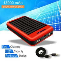 Fast Charging Unique Design Solar Battery Charger 13000mah