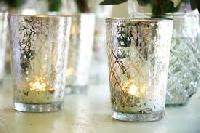 Antique Glass Tealight Holders