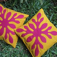 Cushion Cover Floral Applique