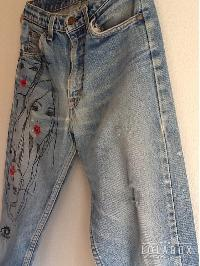 Embroidered Girls Jeans