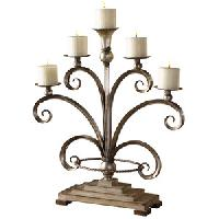 metal antique candle holders