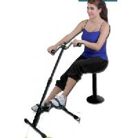 Connectwide Plastic Metal Total Body Exerciser with Adjustable Height Cum Cardio Cycle