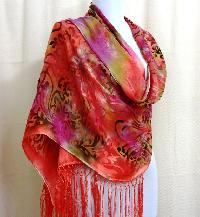 silk rayon shawls