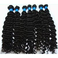 Deep Curl Brazilian Human Hair Weaving