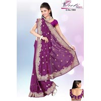 Embroidary Multi Thread Work Sarees