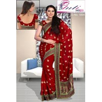 Multi Thread Work Saree