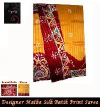 Matka Silk Batik Print Saree