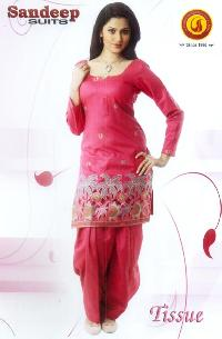 Ladies Embroidered Woolen Unstitched Suits
