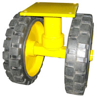 Swivel Caster Wheels With Dual Solid Tyre