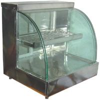 Hot Case Display - Round Glass
