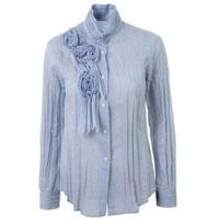 Blue Cotton Shirt, Blue Shirt