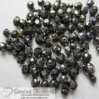 Natural Black Loose Diamond Faceted Beads Lot