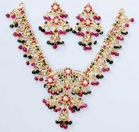 Stone Studded Necklace Set (Heavy Weight)