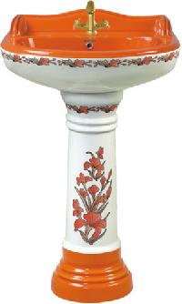 Pedestal wash basin manufacturers suppliers exporters for Latest wash basin designs india