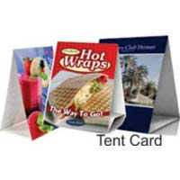 Promotional Table Tent Cards Printing Service
