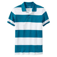 Men's Striped Polo Shirts