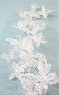 White Glitter Butterfly Artificial Garlands
