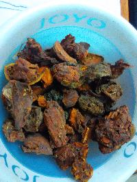 Bael fruit dry
