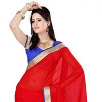 Indian Plain Saree