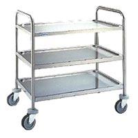 Stainless Steel Double Shelf Trolley