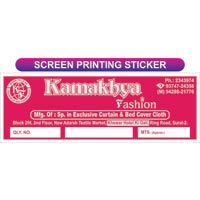 Sticker Screen Printing Services
