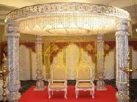 Wedding Fiber Crystal Mandap