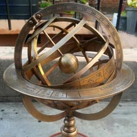 Brass Antique Monocular Compass Brass Armillary Sphere