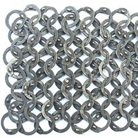 Chainmail Armour Ss 9mm Wedge Riveted High Quality Sample
