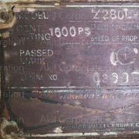 Marine Engine (Yanmar Z280L-UT)