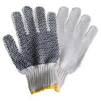 Pvc Dotted Cotton Knitted Hand Gloves