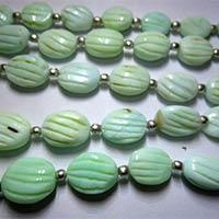 Green Opal Carved Heart Shape Bead